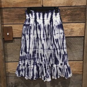 Purple & white tie dyed skirt, Justice size 10
